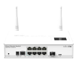 MikroTik Cloud Router Switch 109-8G-1S-2HnD-in wit -...