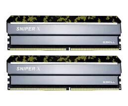 G.Skill SNIPER X Series - Digital Camo - DDR4 - 32 GB: 2 x 16 GB - DIMM 288-PIN - 3000 MHz / PC4-24000 - CL16 - 1.35 V - ungepuffert - non-ECC - Tarnfleck Gelb