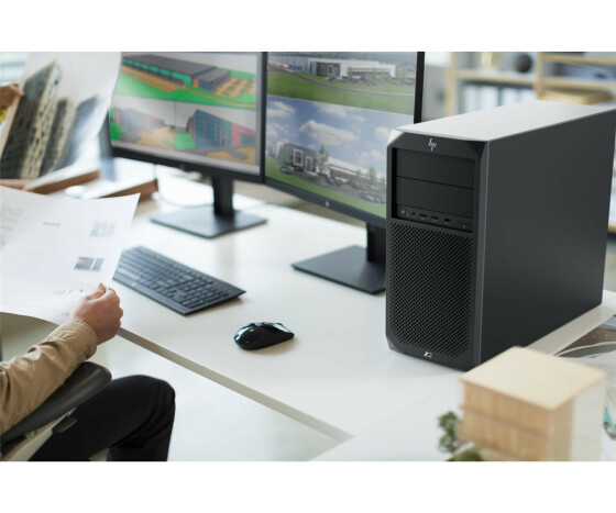 HP Workstation Z2 G4 - MT - 1 x Core i7 8700 / 3.2 GHz - RAM 8 GB - SSD 256 GB - DVD-Writer - UHD Graphics 630 - GigE - Win 10 Pro 64-Bit - vPro - Monitor: keiner