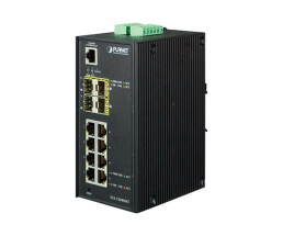 PLANET IGS-12040MT - Switch - verwaltet - 8 x 10/100/1000...