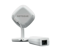 Netgear Arlo Q Plus - IP security camera - Indoor - Wired & Wireless - Cube - Wall - White