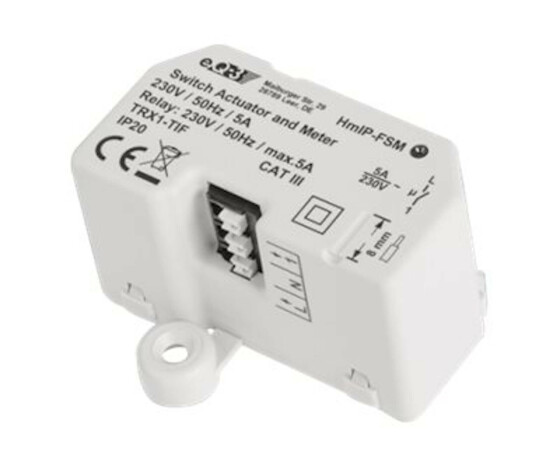 eQ-3 AG Homematic IP 142721A0 - Switching actuator - 130 m - IP20 - White - Homematic Central CCU2 - AC