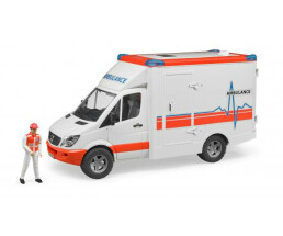 Brother MB Sprinter ambulance with driver - Scale 1:16