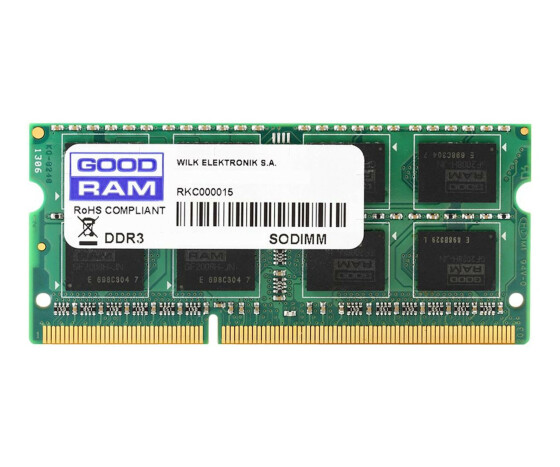 GoodRam 8GB DDR3 PC3-12800 SO-DIMM - 8 GB - 1 x 8 GB - DDR3 - 1600 MHz - 204-pin SO-DIMM