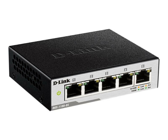 D-Link Smart Managed Switch DGS-1100-05 - Switch - verwaltet - 5 x 10/100/1000 - Desktop