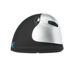 R-Go HE Mouse - Ergonomic mouse - Large (above 185mm) - Right Handed - wireless - Right-hand - RF Wireless - 2500 DPI - Black,Silver