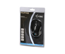 i-tec Bluetooth Comfort Optical Mouse BlueTouch 244 - Right-hand - Optical - Bluetooth - 1600 DPI - Black