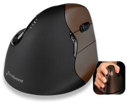 Evoluent VerticalMouse 4 - Right-hand - Optical - RF...