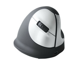 R-Go HE Mouse - Ergonomic mouse - Medium (165-195mm) - Right Handed - wireless - Right-hand - Optical - RF Wireless - 1600 DPI - Black,Silver
