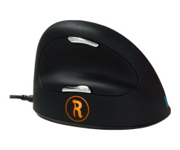 R-Go Break HE Mouse - Ergonomic mouse - Anti-RSI software - Large (above 185mm) - Right Handed - Wired - Right-hand - Optical - USB - 2500 DPI - Black,Silver