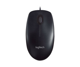 Logitech LGT-M90 - Ambidextrous - Optical - USB - 1000 DPI - Black