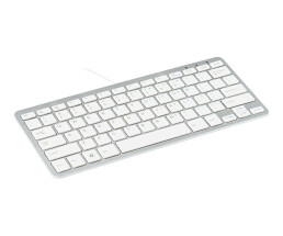 R-Go Compact Keyboard - QWERTY (NORDIC) - white - wired -...