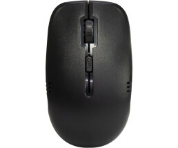 Inter-Tech KB-208 - Standard - Wired - RF Wireless - Black - Mouse included