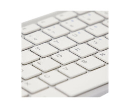 R-Go Compact Keyboard - QWERTY (ES) - white - wired -...