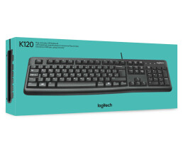 Logitech Keyboard K120 for Business - Standard - Wired - USB - QWERTY - Black