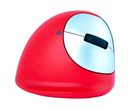 R-Go HE Sport Ergonomic Mouse - Medium (165-195mm) - Right Handed - Bluetooth - Red - Right-hand - Vertical design - Bluetooth - 2400 DPI - Red