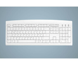 Active Key AK-8000-UV-W/GE - Standard - Wired - USB - Membrane - QWERTZ - White
