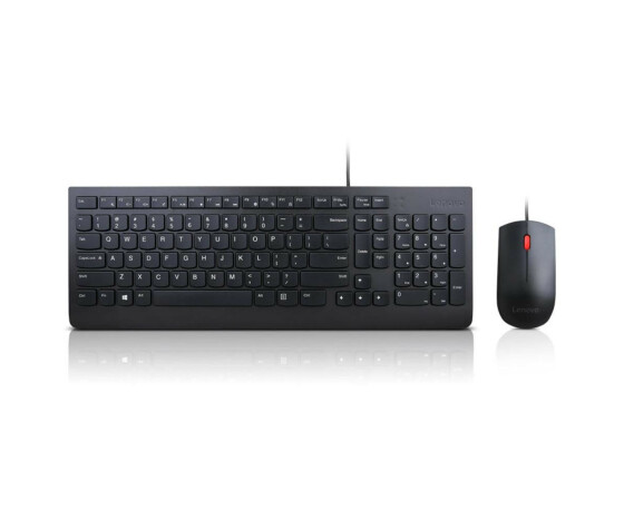 Lenovo Essential Wired Combo - Tastatur-und-Maus-Set - USB - Englisch - US - für ThinkBook 13; ThinkPad L490; L590; P53; T49X; X1 Carbon (7th Gen); X1 Yoga (4th Gen); X39X