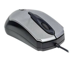 Manhattan Edge Wired Mouse - Grey - 1000dpi - USB -...