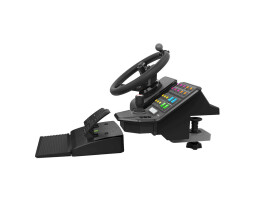 Logitech Heavy Equipment Bundle - Steering wheel + Pedals...