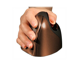 Bakker Evoluent4 Mouse Small Wireless (Right Hand) - Right-hand - RF Wireless - 2600 DPI - Brown