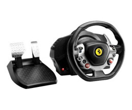 ThrustMaster TX Racing Wheel Ferrari 458 Italia Edition - Steering wheel + Pedals - PC,Xbox One - D-pad - Black,Silver - Metal,Plastic,Rubber - 280 mm