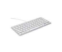 R-Go Compact Keyboard - AZERTY (BE) - white - wired -...