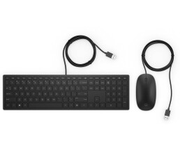 HP Pavilion Wired Keyboard and Mouse 400 GR - Keyboard -...