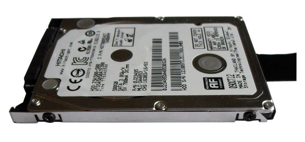 Seitenansicht Festplatte